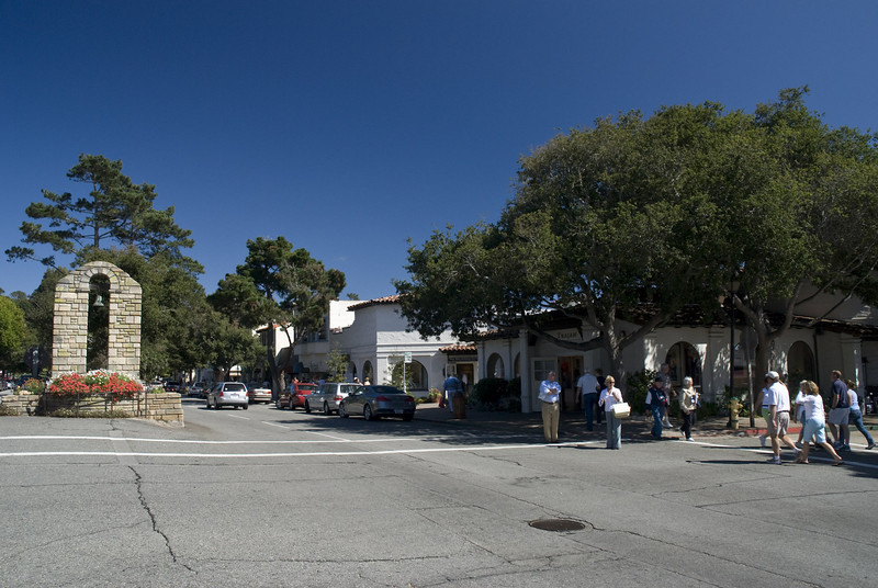 Downtown Carmel -- the town that used to have Clint Eastwood as its mayor for a while.