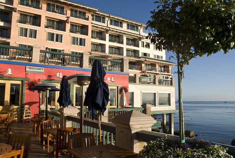 Monterey Plaza at Cannery Row on a quiet weekend morning.