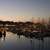 Monterey's marina shortly before sunset.