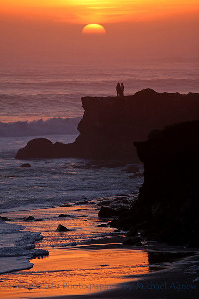 This valentine couple watched every minute of the sunset from there.