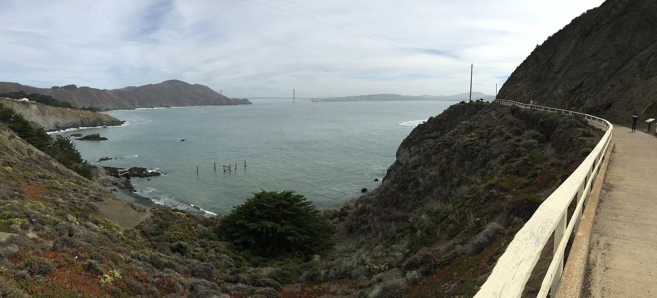 Hiking toward the lighthouse