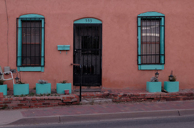A walk in the early morning light.  Santa Fe, New Mexico: our September 2010 trip.