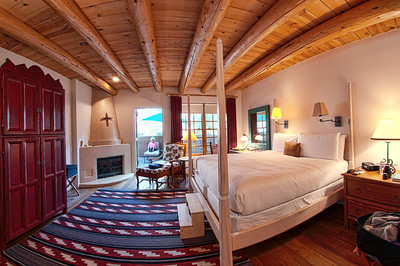 Our room at the Inn of the Anasazi. Very deluxe!   Santa Fe, New Mexico: our September 2010 trip.