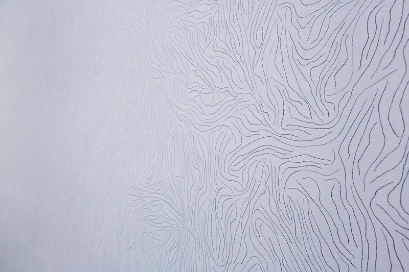 Sol LeWitt wall drawing at the IAIA Museum of Contemporary Native Arts