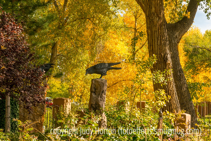 Sculpture Garden in Santa Fe in Autumn
