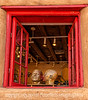 Heads in a Gallery Window