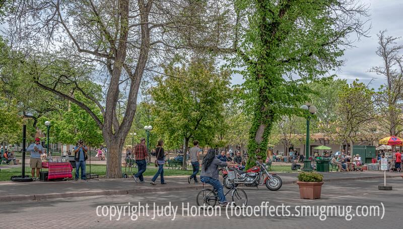 On the Square in Santa Fe