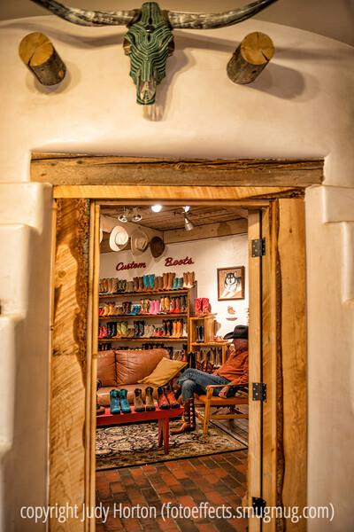 Custom cowboy boot store in Santa Fe.