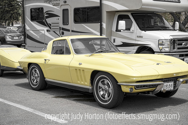 Vintage Corvette with Trailer