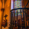 Staircase inside Loretto Chapel Santa Fe NM