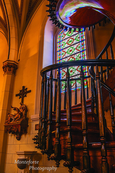 Staircase inside Loretto Chapel Santa Fe NM