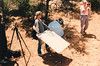 RICK THE REFLECTOR MAN<br /> Due to the shadow from the overhanging eave, a reflector panel had to be used to compensate for it. As Rick was the leader and not one of the photographers, per se, he got to play Photographer's Assistant and hold the panel.