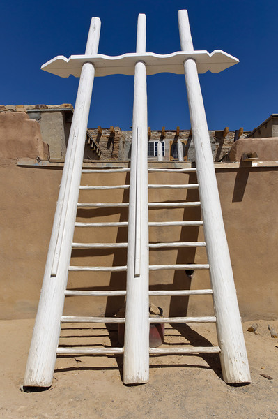Ceremonial ladder into kiva, Acoma Pueblo