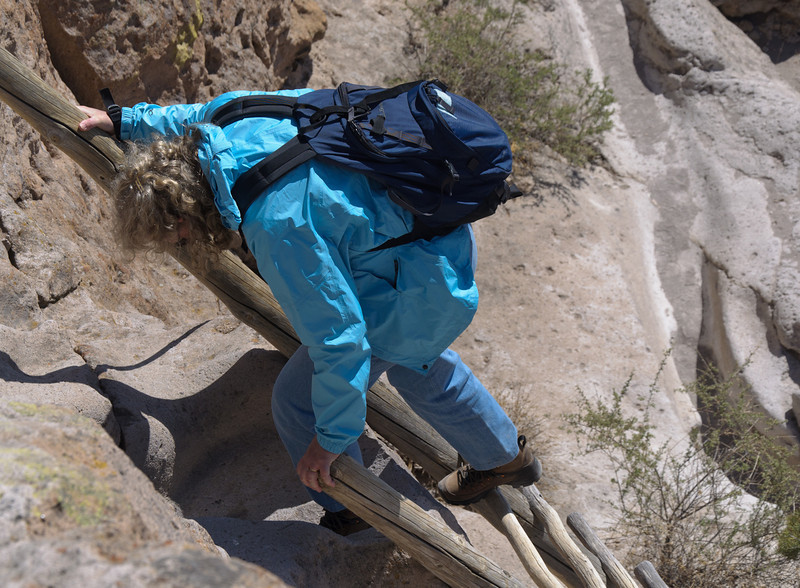 Another ladder, Tsankawi Trail, Bandelier National Park