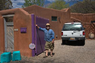 Earl Kessler at his home in Santa Fe, NM