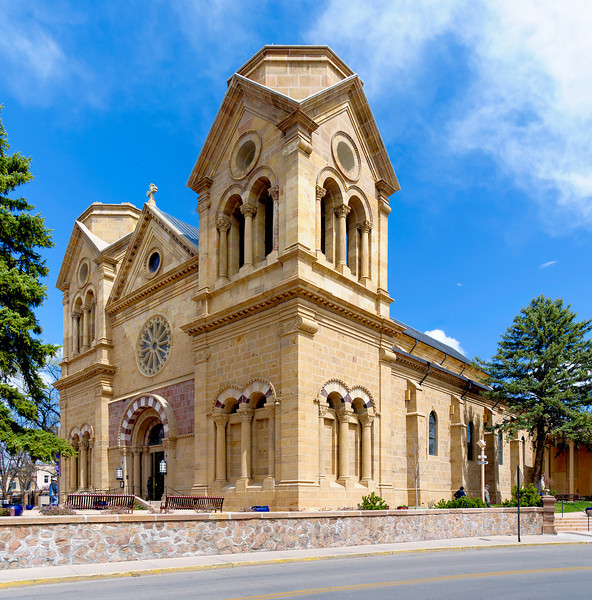 St. Francis Cathedral, on the square in Santa Fe