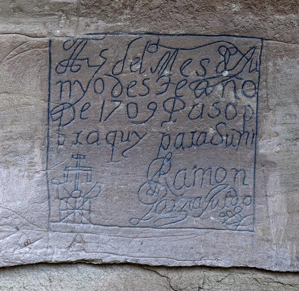 Conquistador Graffiti from 1709, El Morro National Monument