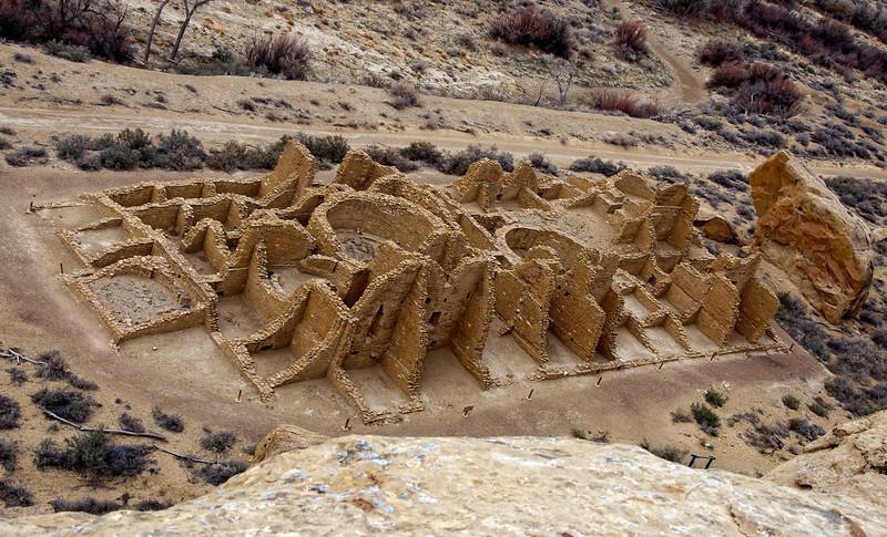 Kin Kletso from the Pueblo Alto Trail, Chaco