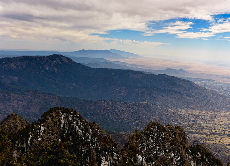 View from Sandia Peak at 10,000'