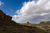 Fajada Butte, Chaco Culture National Historical Park.  The only good light of the day.