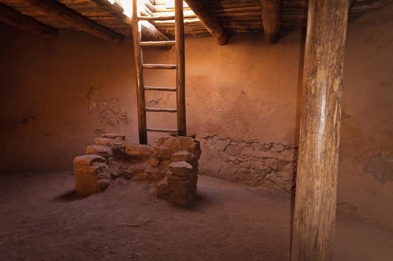 Inside a Kiva, Pecos Pueblo National Historical Park