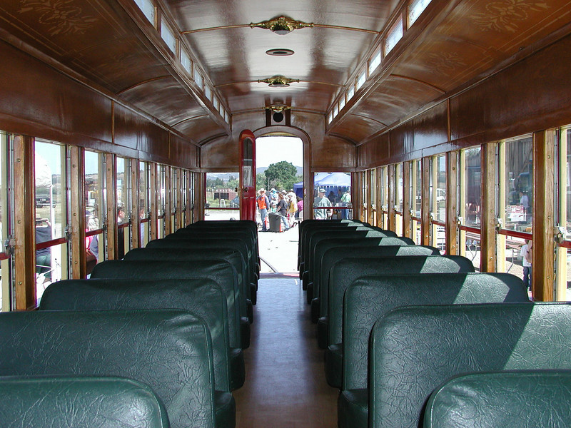The interior of one of the restored cars