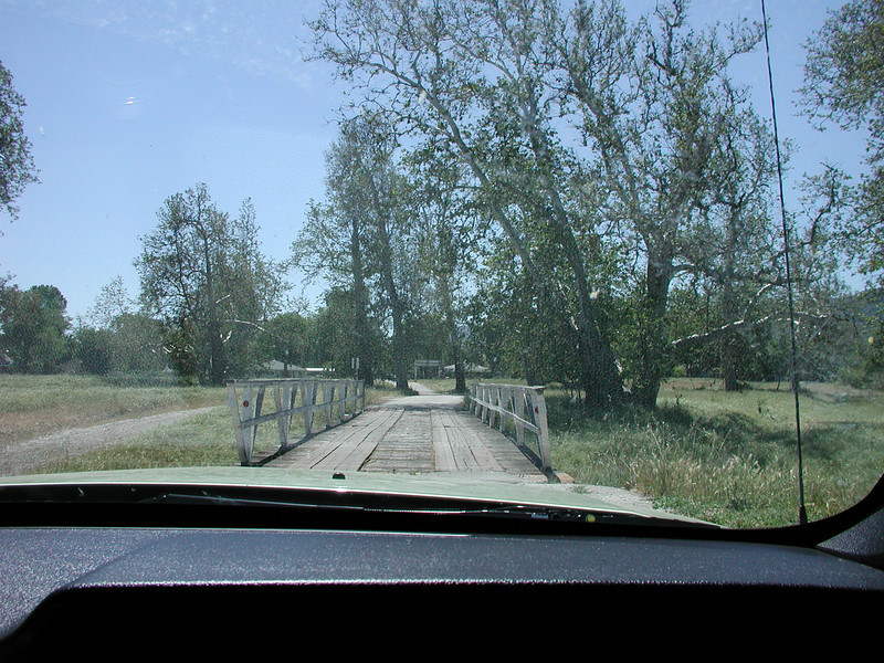 You get in and out of the site over this old wooden bridge!