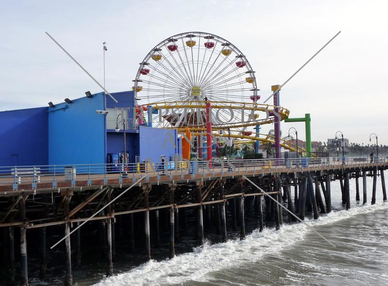Ferris wheel at the Santa Monica Pier in California.