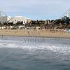 Beach at the Santa Monica Pier in California.