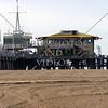 View at the Santa Monica Pier in California.