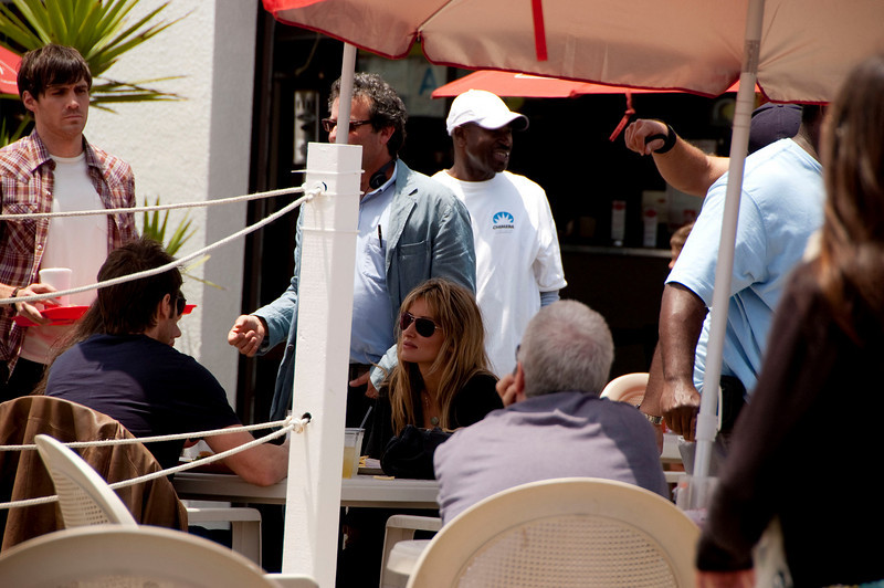 We stumbled onto a TV set, they were filming Californication on Venice Beach.  I got a few shots of the three stars, Natasha McElhone, David Duchovny, and Madeleine Martin.