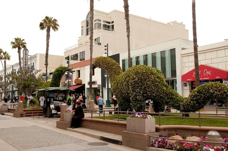 On the 3rd St. Promenade in Santa Monica.