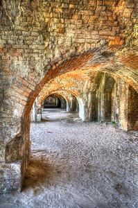 Open Arches, Cannon Casemates - Fort Pickens, Santa Rosa Island 1834