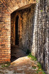 Walkway to Officers Quarters - Fort Pickens, Santa Rosa Island 1834