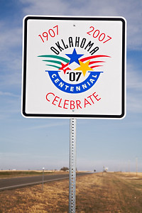 Oklahoma Centennial road sign   _MG_9751