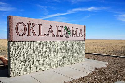 Oklahoma border sign  _MG_9749