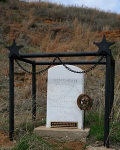Nehemiah Carson gravesite at Pawnee Rock