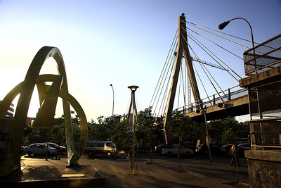 Pedestrian Bridge on Paseo de Huerfanos