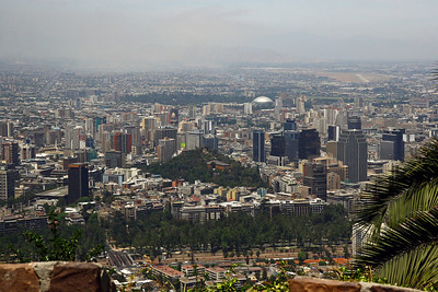 Santiago Chile from Cerro Cristobal