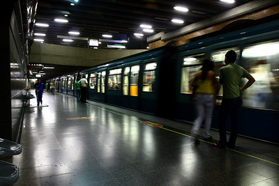 Subway station in Santiago, Chile