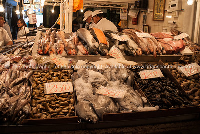 The Mercado Central de Santiago is the central market of Santiago de Chile. It was opened in 1872 is a major fish and meat market, and tourist attraction.