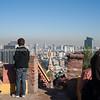 Street scenes and buildings.Santiago de Chile.<br /> Views from Cerro Santa Lucia.<br /> Model release; no