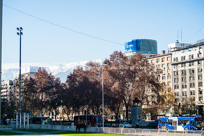 Street scenes and buildings.Santiago de Chile.