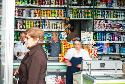 Shop on outside of The Mercado Central de Santiago is the central market of Santiago de Chile. It was opened in 1872