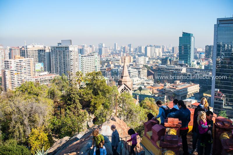 Street scenes and buildings.Santiago de Chile. Views from Cerro Santa Lucia.