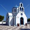 A small church on the island of Santorini, Greece.