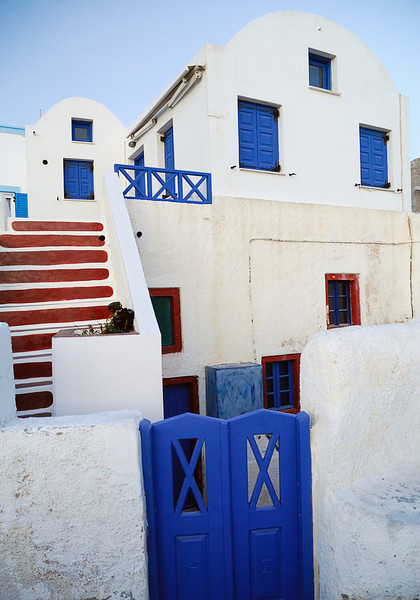Santorinian traditional house in the village of Oia