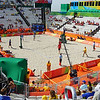 It was the first day of competition.  We decided to go to the beach volleyball venue where the Brazilian favorites were scheduled to play.