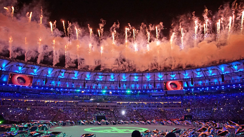 It's a whole different experience seeing this in person.  The opening ceremonies took my breath away.