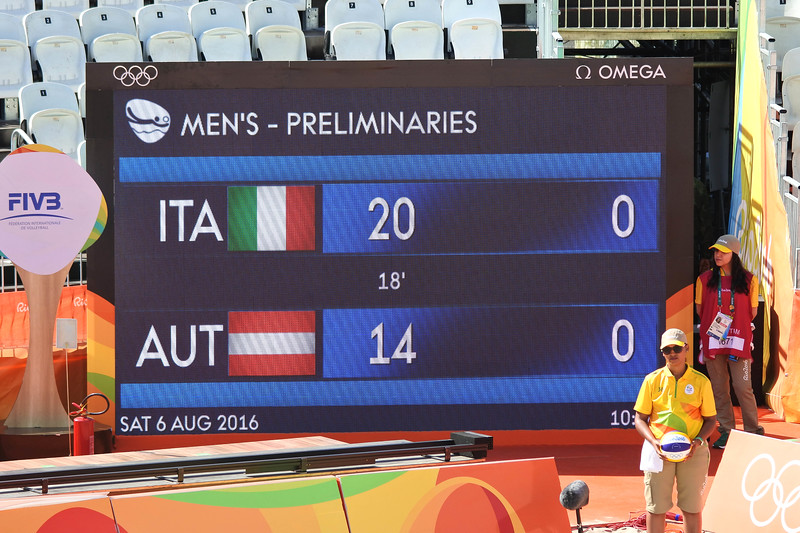 First match was Italy vs Austria.